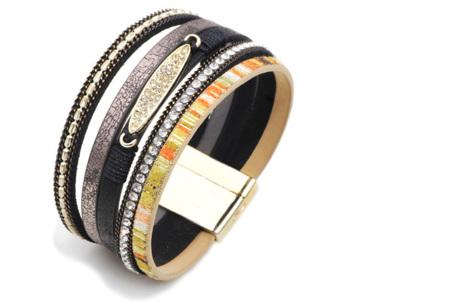 Ibiza armbanden | Zomerse armbandenset in Ibiza style C - Zwart
