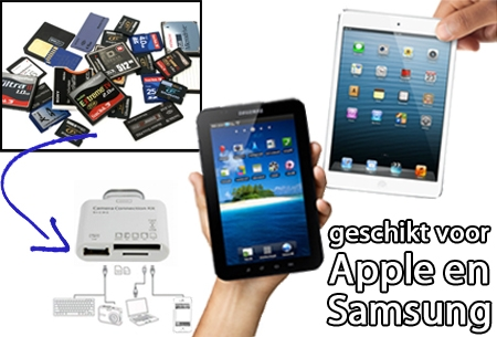 5-in-1 Connection kit voor Apple en Samsung Tablets t.w.v. €39,95 GRATIS