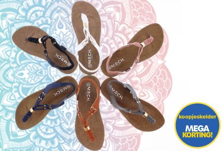 Braided slippers   Eyecatcher voor een complete zomerse look