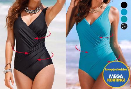 Twisted badpak met figuurcorrigerend effect | Laat jouw lichaam prachtig uitkomen deze zomer!