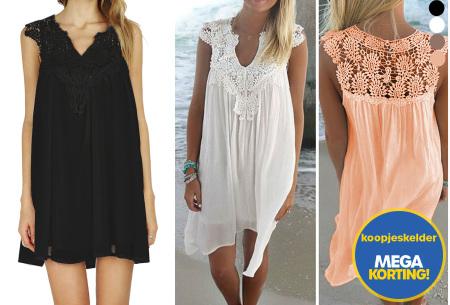 Lace jurk met prachtige kanten details   Ga voor een stijlvolle bohemian look!