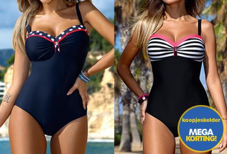 Elegance badpak in 5 uitvoeringen | Stijlvol, vrouwelijk en zelfverzekerd het strand op!