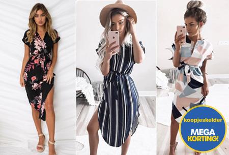 Pattern jurk in 7 uitvoeringen | Prachtige jurk met print voor een chique & sophisticated look