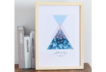 Houten fotolijst | Ideale lijst voor al je Diamond paintings, foto's of schilderijen Lichtbruin