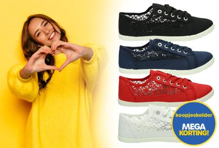 Lace sneakers | Stijlvolle damesschoenen in 4 kleuren
