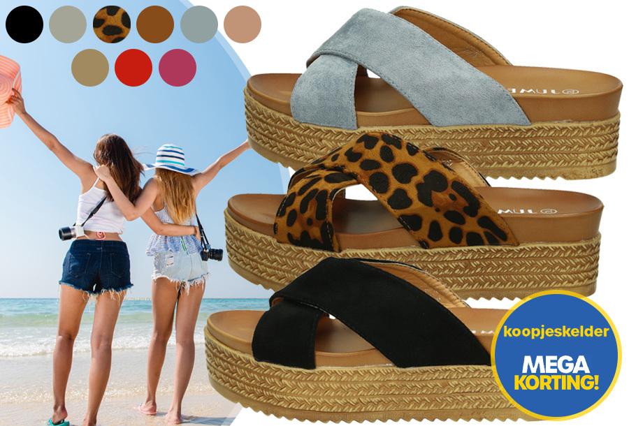 Criss Cross sandalen voor dames in de sale