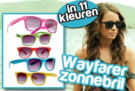Wayfarer, favoriet Zonnebril model in 11 kleuren t.w.v. €14,95 nu GRATIS!