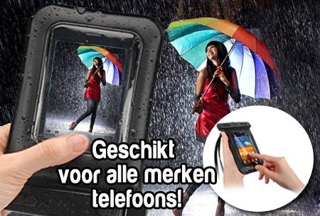 Stof- en waterdichte telefoonhoes t.w.v. €29,95 nu €5,95! Geen verzendkosten
