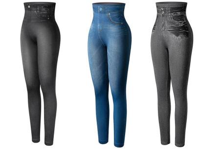 High waist jeans legging met slim fit | Figuurcorrigerende broek voor dames