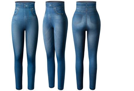 High waist jeans legging met slim fit | Figuurcorrigerende broek voor dames Blauw