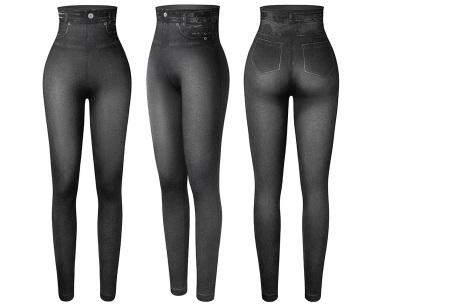 High waist jeans legging met slim fit | Figuurcorrigerende broek voor dames Zwart