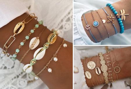 Bohemian armbandenset | Stijlvolle armbandjes in 14 varianten