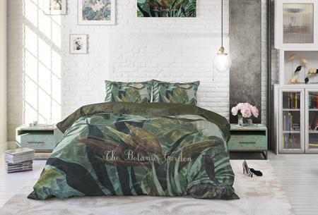 Katoenen dekbedovertrekken van Dreamhouse | Stijlvol beddengoed in 7 printjes Botanic Garden Green