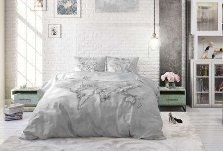 Katoenen dekbedovertrekken van Dreamhouse | Stijlvol beddengoed in 7 printjes Marble World Grey