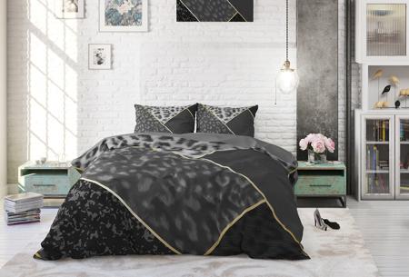 Katoenen dekbedovertrekken van Dreamhouse | Stijlvol beddengoed in 7 printjes Panther Vibe Anthracite