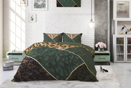 Katoenen dekbedovertrekken van Dreamhouse | Stijlvol beddengoed in 7 printjes Panther Vibe Green