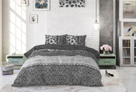 Katoenen dekbedovertrekken van Dreamhouse | Stijlvol beddengoed in 7 printjes Trendy Panther Anthracite