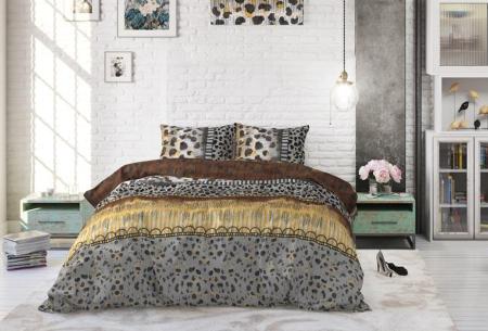 Katoenen dekbedovertrekken van Dreamhouse | Stijlvol beddengoed in 7 printjes Trendy Panther Taupe