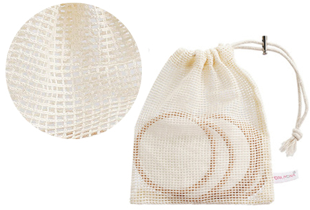 Herbruikbare wattenschijfjes van bamboe | 10-pack watjes met GRATIS make-up spons!