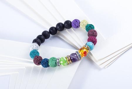 Kralensets   Zelf Chakra armbanden maken! Keuze uit 2 sets
