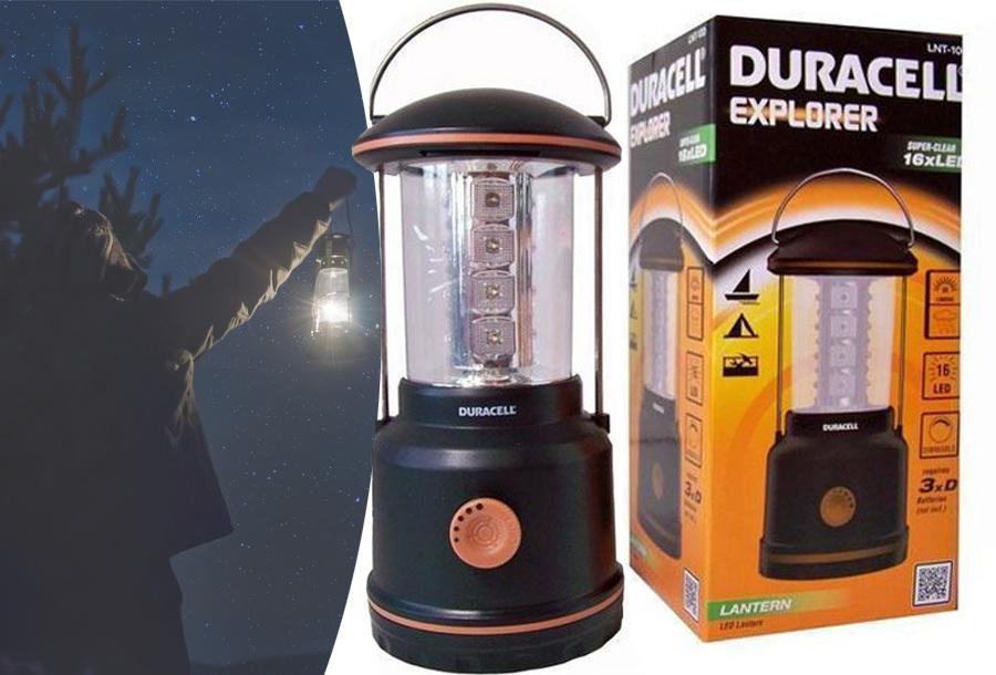 Goedkope campinglamp van Duracell in de aanbieding