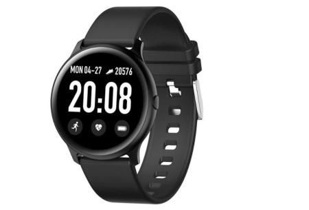 Smartwatch voor dames en heren | Smart horloge met o.a. gps-, hartslag- en bloeddrukfunctie! Zwart