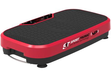 SportTronic trilplaat | Gemakkelijk thuis sporten met dit fitnessapparaat Rood