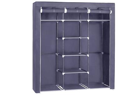 Herzberg opbergkast | Stoffen garderobekast met oprolbare deur Medium - grijs