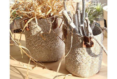 Rieten mand voor planten | Gevlochten plantenmand of opbergmand