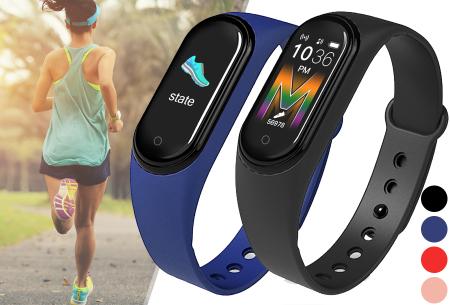 Smart Activity tracker   Waterdicht Bluetooth horloge met hartslagmeter en slaapmonitor
