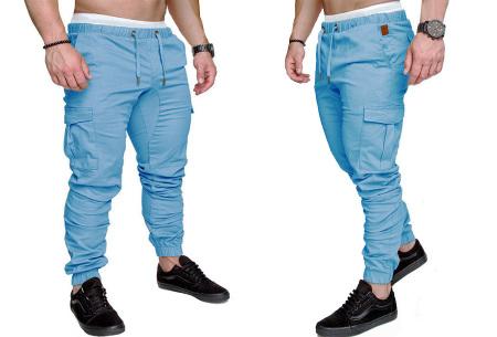 Cargo broek | Lange broek voor heren - In 10 kleuren Blauw