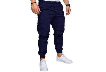 Cargo broek | Lange broek voor heren - In 10 kleuren Donkerblauw