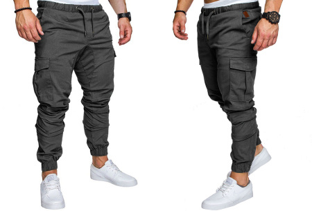 Cargo broek | Lange broek voor heren - In 10 kleuren Donkergrijs
