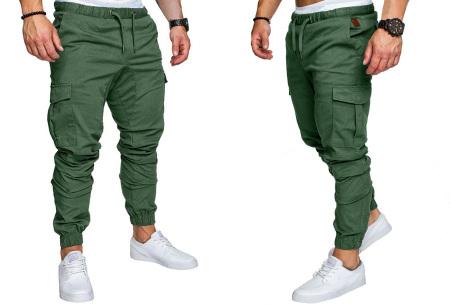 Cargo broek | Lange broek voor heren - In 10 kleuren Groen