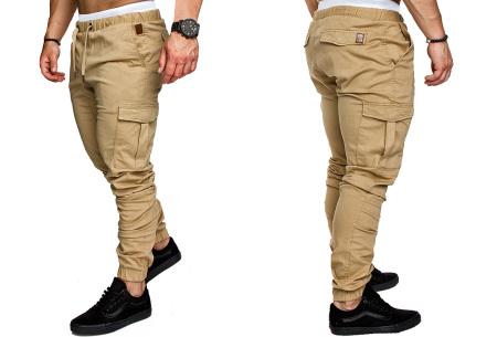 Cargo broek | Lange broek voor heren - In 10 kleuren Khaki