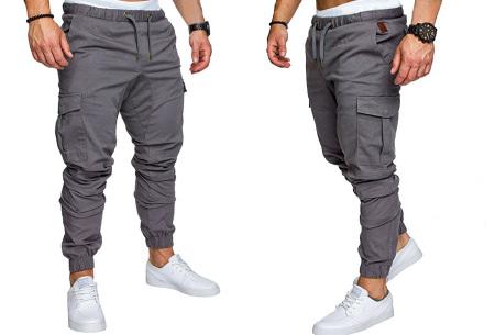 Cargo broek | Lange broek voor heren - In 10 kleuren Lichtgrijs