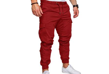 Cargo broek | Lange broek voor heren - In 10 kleuren Rood