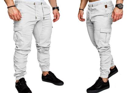 Cargo broek | Lange broek voor heren - In 10 kleuren Wit
