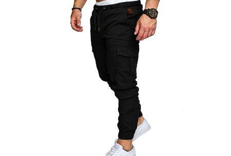 Cargo broek | Lange broek voor heren - In 10 kleuren Zwart