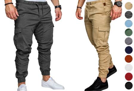 Cargo broek | Lange broek voor heren - In 10 kleuren