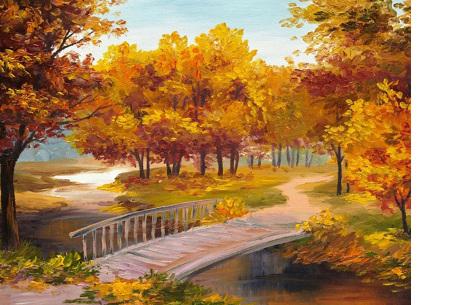 Diamond painting herfst pakket | De mooiste natuur en landschappen in najaarstinten #2