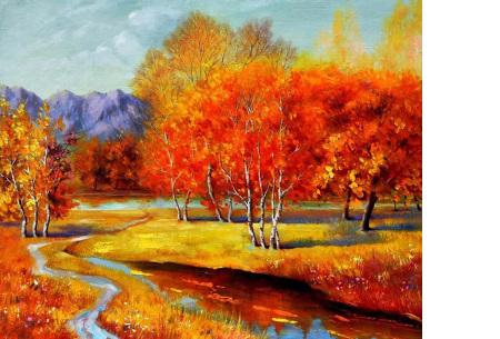 Diamond painting herfst pakket | De mooiste natuur en landschappen in najaarstinten #4