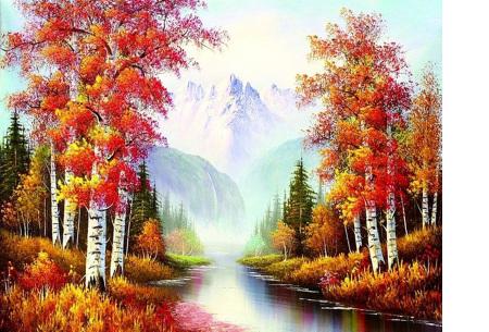 Diamond painting herfst pakket | De mooiste natuur en landschappen in najaarstinten #5