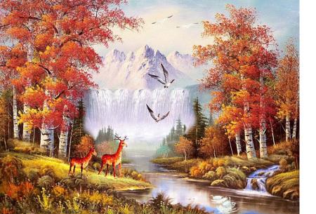 Diamond painting herfst pakket | De mooiste natuur en landschappen in najaarstinten #6