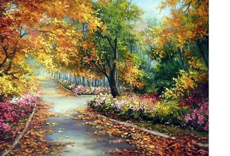 Diamond painting herfst pakket | De mooiste natuur en landschappen in najaarstinten #11