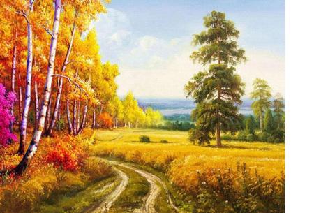 Diamond painting herfst pakket | De mooiste natuur en landschappen in najaarstinten #13