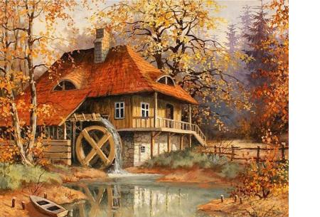 Diamond painting herfst pakket | De mooiste natuur en landschappen in najaarstinten #14
