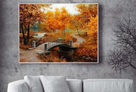Diamond painting herfst pakket | De mooiste natuur en landschappen in najaarstinten