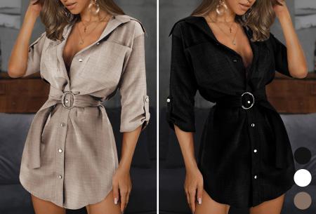 Lange blouse | Chique dames blouse met riem