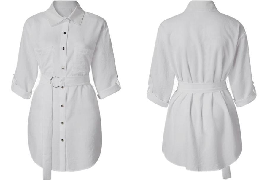 Lange blouse met riem Set van 3 - Maat 3XL (NL maat XL) - Lange blouse